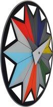 NeXtime Wandklok Circus - Multicolor
