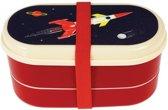 Rex London Bento Box Space Age - Raket - Ruimte Blauw