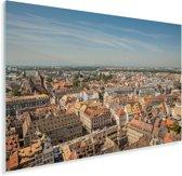 Uitzicht op de Franse stad Straatsburg Plexiglas 90x60 cm - Foto print op Glas (Plexiglas wanddecoratie)