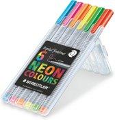 triplus fineliner - Box 6 st neon colours