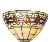 Clayre & Eef Wandlamp tiffany compleet 30x15x17 cm E14/40W