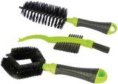 Dresco - Fietsborstelset - 3-delig - Zwart/Groen