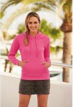 Roze hoodie/sweater voor dames - Dameskleding roze trui met capuchon L (40/52)