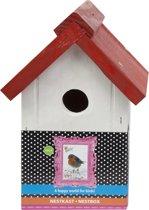 Bird Home Nestkast Wit / Rood dak(4)
