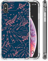 iPhone X | Xs TPU-Siliconen Hoesje Design Palm Leaves
