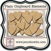Jenni Bowlin mini chipboard pieces hearts