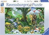 Ravensburger puzzel Jungle Harmony 500 stukjes