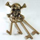 Set piraten sleutels met doodshoofd