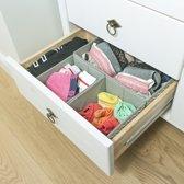 Kledingkast Lade Organizer Set - Ladeverdeler Opbergset - Kleding Opbergbox Verdeler Voor Lingerie/Sokken/BH/Stropdassen - 3 vakken - Opvouwbaar