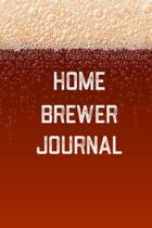 Home Brewer Journal: Home Beer Brewing Recipe and Logbook