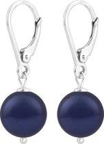 ARLIZI oorbellen parel blauw 10mm - zilver - 1215