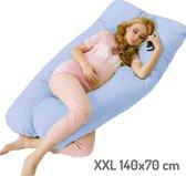 Zwangerschapskussen XXL - Blauw