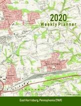 2020 Weekly Planner: East Harrisburg, Pennsylvania (1969): Vintage Topo Map Cover