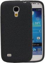 Samsung Galaxy S4 mini Hoesje Sand Look TPU Zwart