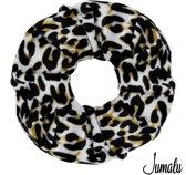 Jumalu scrunchie velvet haarwokkel haarelastiekjes - tijgerprint - 1 stuk