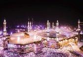 Fotobehang Pink Mosque At Night   L - 152.5cm x 104cm   130g/m2 Vlies