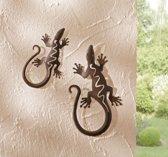 Gecko wandhanger 2 stuks