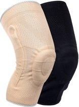 Medidu Premium kniebrace met baleinen  Lichtgewicht (In zwart en beige)