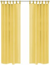 Gordijnen voile 140x245 cm geel 2 st