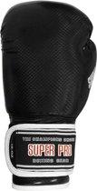 Super Pro Shiny Skintex Gloves - Black-4 oz.
