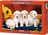 Puppies With Sunflower puzzel 1000 stukjes