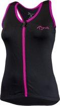 Rogelli Abbey Top - Wielershirt - Mouwloos - Dames - Zwart - Maat XL