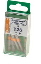 Spax bit t-star 50mm torx25(5st)