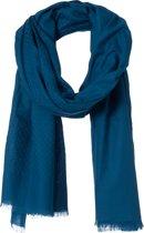 Amor Collections - Langwerpige Sjaal - Katoen - Blauw - 100x200 cm