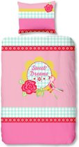 Sweet Dreams dekbedovertrek - Roze - 1-persoons (140x200/220 cm + 1 sloop)