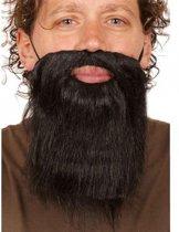 Korte zwarte baard