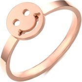 Cilla Jewels edelstaal ring Smiley Rose-16mm