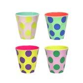 GINGER Happy Dots Medium cups - 4 melamine bekers