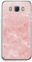 Samsung Galaxy J5 (2016) Transparant Hoesje (Soft) - Roze marmer