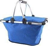 Picknickmand Koeltas - Thermo Lunchtas Met Koelvak - Lunchtasje Koeltasje - Maaltijd Picknick Tas Lunchbox - Reis Lunch Bag - Blauw