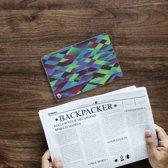Apple iPad Mini 4 Tablethoesje Design Abstract Green Blue