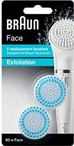 Braun Face 80-e Vervangende Exfoliatieborstels - 2 stuks