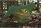 Highlander - Nomad trekking hangmat met tarp en mosquitonet - olive groen
