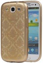 Samsung Galaxy S3 mini Hoesje TPU Paleis 3D Backcover Goud