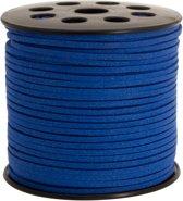 Faux Suede Veter (3 mm) Royal Blue (10 Meter)