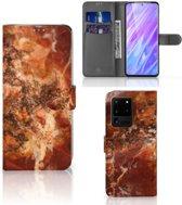 Bookcase Samsung Galaxy S20 Ultra Marmer Bruin