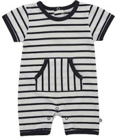 Minymo - newborn jongens playsuit - YD stripe - Blue - Maat 62