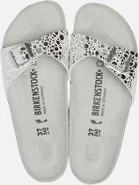 Birkenstock Madrid Slippers - Maat 42 - Unisex - wit/zilver