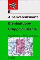 DAV Alpenvereinskarte 51 Brentagruppe 1 : 25 000
