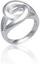 Classics&More - Zilveren Ring Glanzend met knoop