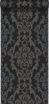 Origin behang ornamenten zwart en glanzend brons - 346208