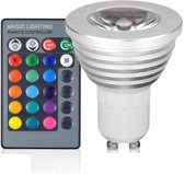 Groenovatie LED Spot GU10 Fitting - 3W - RGB - 62x50 mm - Dimbaar - Incl. Afstandsbediening