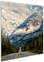 Canadees berglandschap Glas 60x40 cm - Foto print op Glas (Plexiglas wanddecoratie)