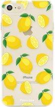 FOONCASE iPhone 8 hoesje TPU Soft Case - Back Cover - Lemons / Citroen / Citroentjes