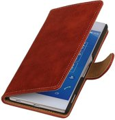 Wicked Narwal | Bark bookstyle / book case/ wallet case Hoes voor sony Xperia Z4 Z3+ Rood