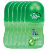 Fa Caribbean Lemon - 6x 50 ml - Voordeelverpakking - Deodorant
